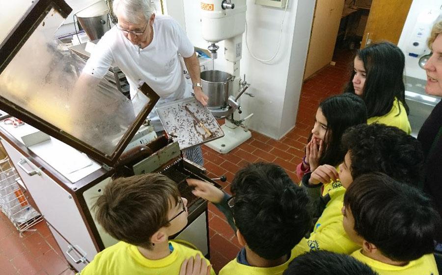 Besuch Jahnschule Bäckerei Klein